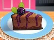 Игра Кулинарный класс Сары: Шоколадный Чизкейк с ежевикой