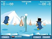 Игра Пингвин волейбол