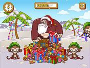 Игра Обезьяна 'н' бананы 3 - рождественских праздников