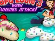 Игра Папа Луи 3 - Атака Мороженого