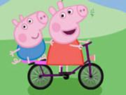 Игра Свинка Пеппа на Велосипеде