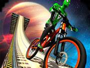 Игра Супергерои на BMX в Космосе