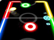 Игра Спорт: Неоновый Аэрохоккей