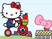Игра Хелло Китти на Велосипеде