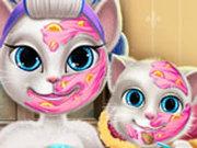 Игра Макияж Анжелы и ее Дочки