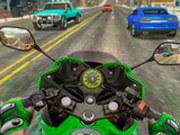 Игра Мотогонщик на Трассе