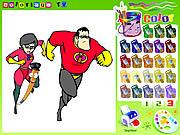 Игра Суперсемейка: раскраска