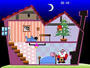 Игра Санта раздает подарки