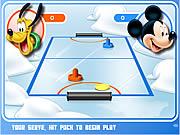 Игра Микки и Друзья из Диснея - Аэрохоккей