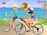 Игра Мария и Софья кататься на велосипеде