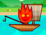 Игра Огонь и Вода на Рыбалке