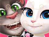 Игра Кошка Анжела: Пазлы