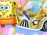 Игра Губка Боб: Чистка Автомобиля